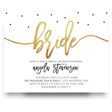 inexpensive bridal shower invitations gold foil bridal shower invitation