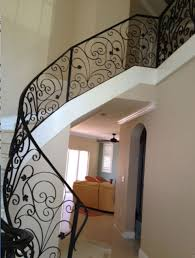 ornamental indoor stair railings west side iron aluminum miami florida