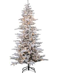 bargains on 9ft pre lit artificial tree flocked