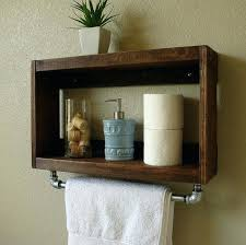 Bathroom Wall Mounted Shelves Small Bathroom Wall Shelves Rustic Modern 2 Tier Bathroom Wall
