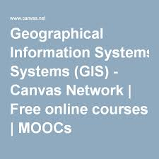 gis class online geographical information systems gis canvas network free