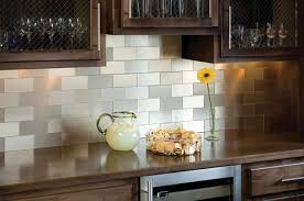 Metallic Tile Backsplash by Outstanding Peel And Stick Metal Tile 20 In Decor Inspiration With