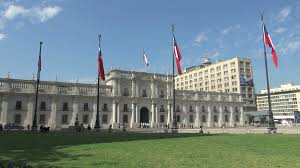 Chile Santiago Flag Flags Outside Government Building In Santiago Chile Stock Video