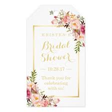wedding shower thank you gifts bridal shower thank you chic flowers gift tags zazzle