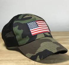 American Flag Camo Hat American Flag Mesh Back Trucker Snapback Hat U2013 Red White Blue