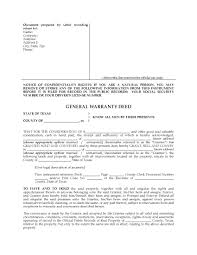 texas general warranty deed form legal forms and business