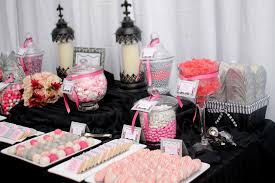 Pink And Black Candy Buffet by Elegant Black Grey Pink White Candy Dessert Table Elegant U2026 Flickr
