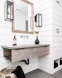 Rustic Small Bathroom by Rustic Bathroom With White Shiplap B A T H R O O M S Pinterest