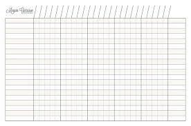 Four Column Chart Template by 4 Column Chart Socialmediaworks Co