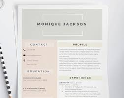 2 Page Resume Samples by 2 Page Resume Etsy