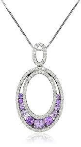 purple necklace pendant images 10k white gold purple sapphire and diamond oval jpg