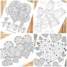 valentines coloring pages adults kids trail colors