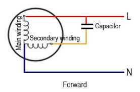 single phase motor wiring diagram with capacitor start run and