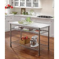 White Kitchen Cart Island Kitchen Islands Carts Large Stainless Steel Portable Kitchen