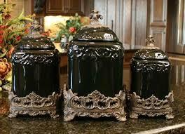 beige fleur de lis ceramic kitchen canisters set 3 by canisters excellent amazoncom style setter chalkboard glass