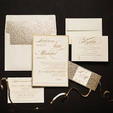 wedding invitations glitter chagne glitter wedding invitations chic shab