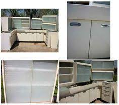 Vintage English Rose Metal Kitchen Cabinets From Spitfires To - Retro metal kitchen cabinets