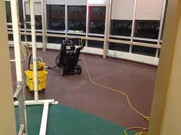 Mondo Sports Impact Flooring by Mondo Rubber Floors Refinished With On Site Uv Sealer At Burnaby