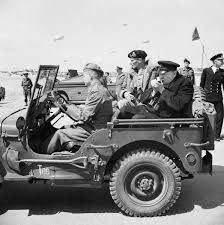 army jeep drawing 12 june 1944 churchill makes a day trip to normandy