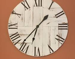 reclaimed wood wall large large white rustic wood clock pallet clock reclaimed