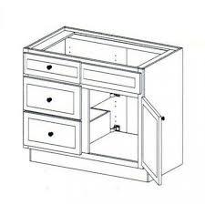 3 Drawer Base Cabinet Vanity Sink Base Cabinet With 3 Drawers Left 36