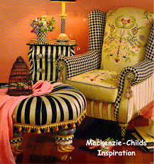 Mackenzie Childs Barn Sale Furniture Mackenzie Childs Chair And Round Ottoman For Home