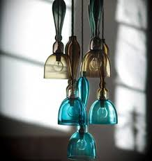 turquoise blue glass pendant lights romantic interior decorating with handmade colored glass lighting