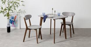 Kitchen Chairs by 2 X Fjord Dining Chairs Dark Stain Oak And Grey Made Com