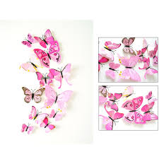 popular wall pink decor buy cheap wall pink decor lots from china fashion heaven 12x 3d pink pvc butterfly wall sticker room decor decal applique jul 28