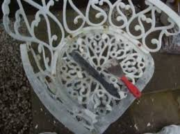 Antique Cast Iron Garden Benches For Sale by How To Restore Old Cast Garden Furniture By Colscopters Youtube