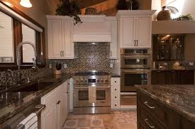 white cabinets with marble countertops oak effect kitchen granite