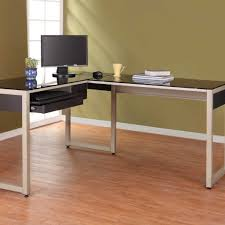Z Line Belaire Glass L Shaped Computer Desk Z Line Belaire Glass L Shaped Computer Desk Black Crustpizza