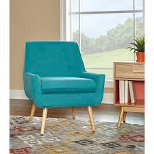 teal blue home decor linon home decor trelis bright blue microfiber arm chair