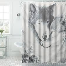 Animal Shower Curtains Bath Decor New Custom Wolf Animal Shower Curtain 60x72