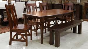dining room table and bench pendleton dining table w bench u0026 chairs by