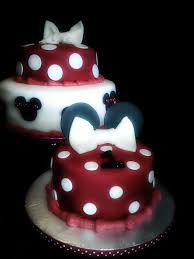minnie mouse birthday cake red black image inspiration