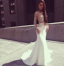 floor length prom dress white mermaid prom dresses evening dress