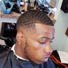 black men hairstyle with line best haircut for receding hairline
