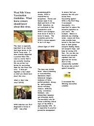 Signs Of Blindness In Horses Newsletter Fall 2012 West Nile Public Health Medical Specialties