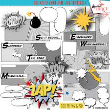comic book clip art templates comic strip superhero cartoon