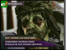 imágenes religiosas que lloran sangre comprueban científicamente que el cristo de san pedro llora sangre