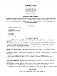 R D Resume Sample by Professional Warehouse Materials Manager Resume Templates To