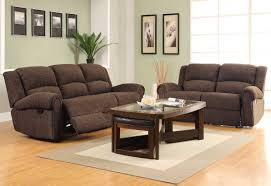 brown velvet recliner love seat and sofa set combined with brown