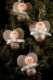 polymer clay and glass snow angel ornaments snowmen pinterest