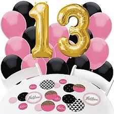 13th birthday party ideas chic pink black and gold 13th birthday birthday party theme