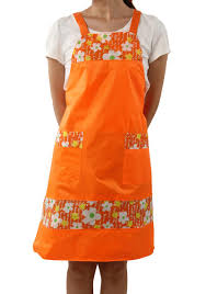 custom pvc waterproof and oil resistant apron decorative pattern