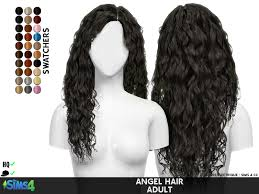 sims 4 hair cc angel hair redheadsims cc
