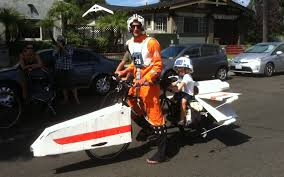 Motorcycle Halloween Costume Dad Tandem Wing Bicycle Halloween