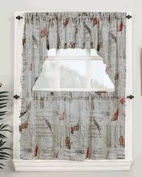 Tier Curtains Kitchen by Elegance Sheer Voile Swag Pair Tier Curtain Panel U0026 Insert