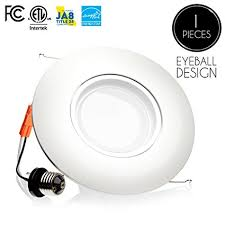 eyeball light bulb replacement parmida 1 pack 6 inch led adjustable gimbal downlight dimmable
